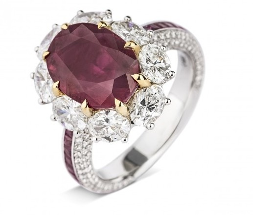 NATURAL RED BURMA RUBY RING 5.07 CARAT
