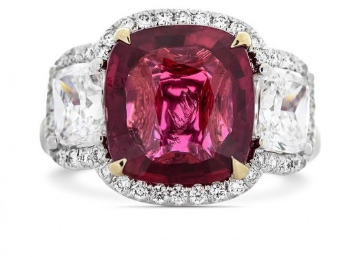5.02 CARAT, NATURAL RED MOZAMBIQUE RUBY RING