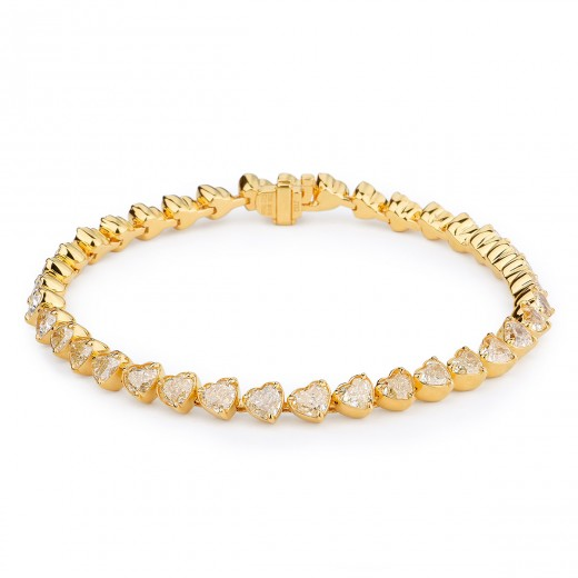 FANCY YELLOW DIAMOND BRACELET 14.67 CARAT