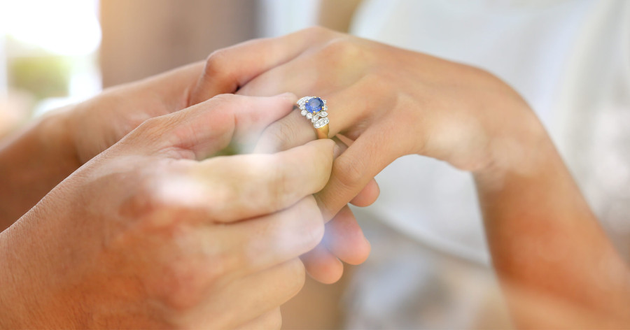 The Colored Engagement Rings Option You May Not Have Considered