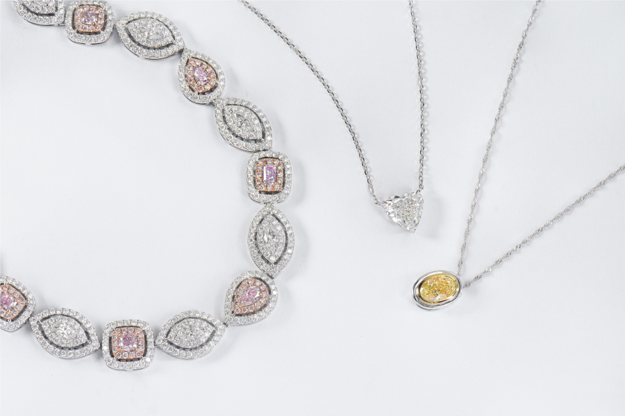 Stunning diamond necklaces