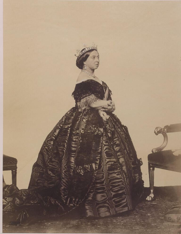 An 1861 portrait of Queen Victoria by Charles Clifford, included in Countess Mountbatten's collection going up for auction at Sotheby's. CHARLES CLIFFORD