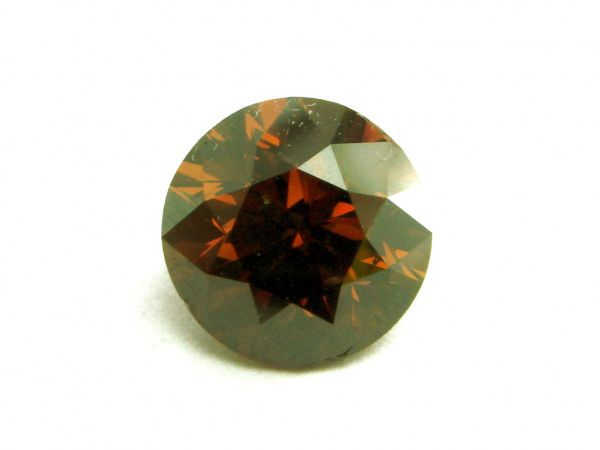1.50 Carat, Fancy Deep Brown Diamond, Round shape, SI1 Clarity, GIA Certified, 14448613