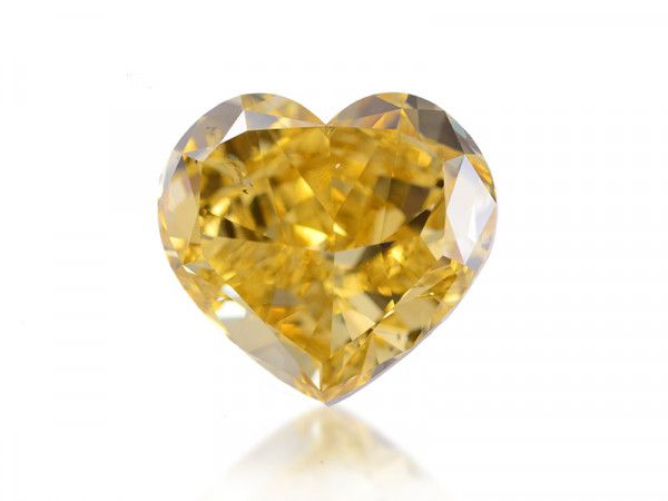 10.88 Carat, Fancy Deep Brownish Yellow Diamond, Heart shape, SI2 Clarity, GIA Certified, 2135777609