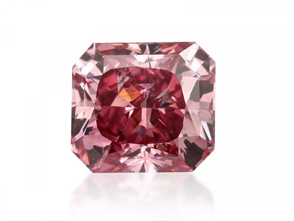1.04 Carat, Fancy Vivid Pink Diamond, Radiant shape, SI2 Clarity, GIA Certified, 2125821667