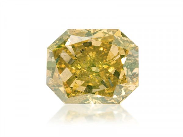 3.71 Carat, Fancy Deep Brownish Yellow Diamond, Radiant shape, SI2 Clarity, GIA Certified, 5161097449