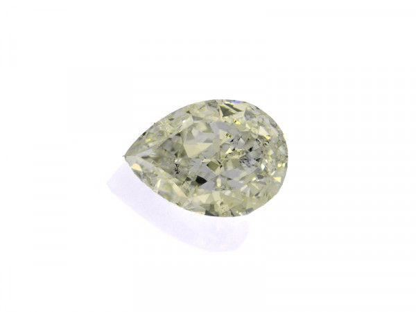 1.01 Carat, Fancy Light Green Diamond, Pear shape, SI2 Clarity, GIA Certified, 2176366944