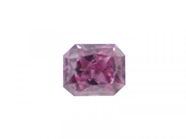 0.11 Carat, Fancy Vivid Purplish Pink Diamond, Radiant shape, GIA Certified, 2141041486