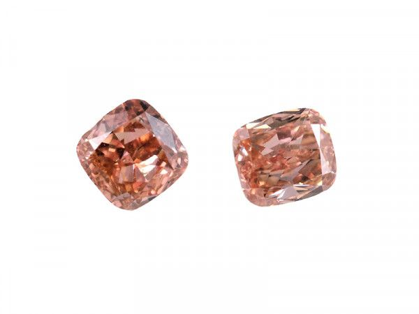 0.61 Carat, Fancy Intense Orangy Pink Diamond, Cushion shape, SI1 Clarity, GIA Certified, 2175506259