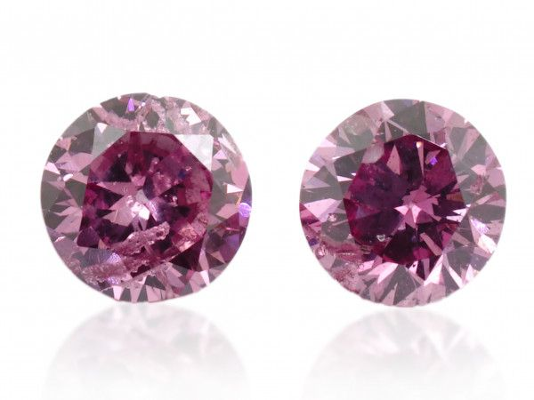 0.12 Carat, Fancy Vivid Purplish Pink Diamond, Round shape, GIA Certified, 1192145487