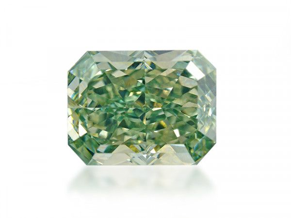 1.08 Carat, Fancy Intense Yellowish Green Diamond, Radiant shape, VS1 Clarity, GIA Certified, 2337546977