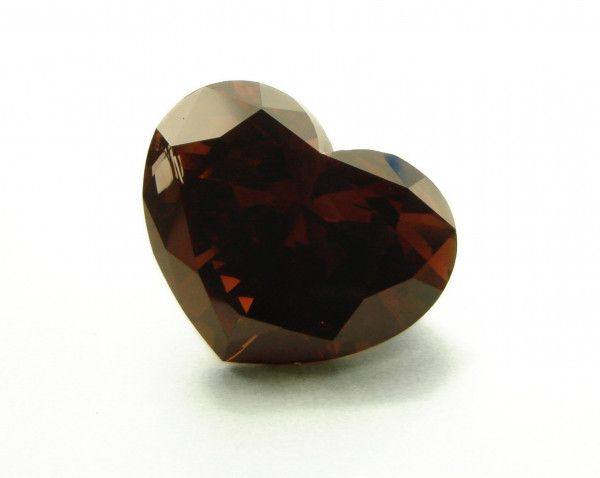 5.23 Carat, Fancy Dark Orangy Brown Diamond, Heart shape, SI2 Clarity, GIA Certified, 1132048971