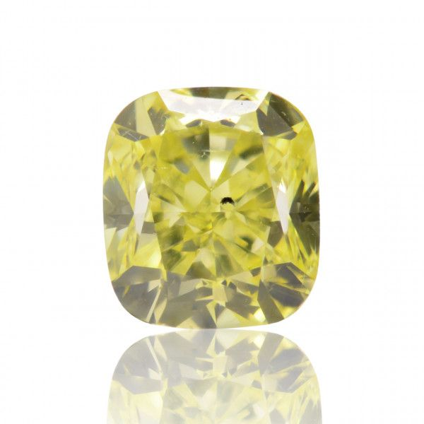 1.61 Carat, Fancy Intense Yellow Diamond, Cushion shape, SI2 Clarity, GIA Certified, 5172217318
