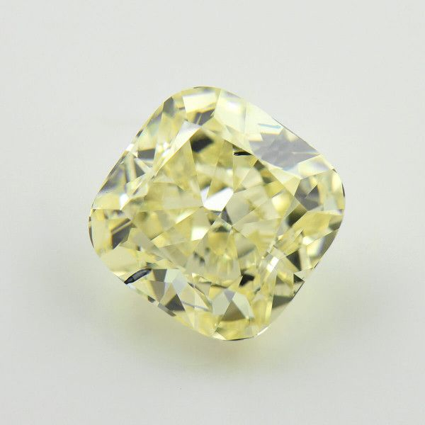 3.41 Carat, Fancy Light Yellow Diamond, Radiant shape, VS1 Clarity, GIA Certified, 2195176959