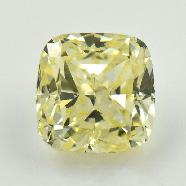 2.09 Carat, Fancy Yellow Diamond, Cushion shape, VS2 Clarity, GIA Certified, 2185227881