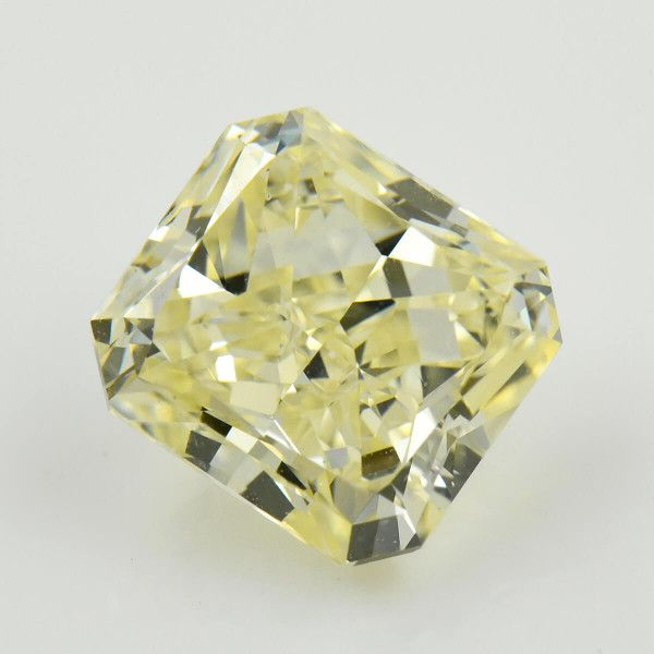 5.01 Carat, Light Yellow (Y-Z) Diamond, Radiant shape, VS2 Clarity, GIA Certified, 6197229150