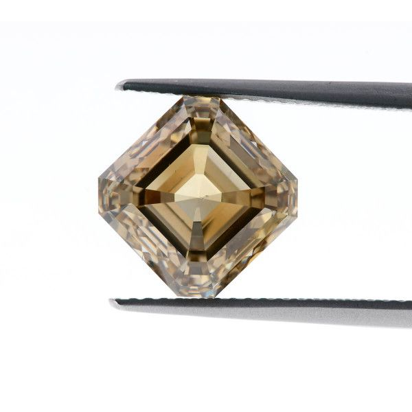 6.02 Carat, Fancy Yellowish Brown Diamond, Asscher shape, SI1 Clarity, GIA Certified, 5192375851