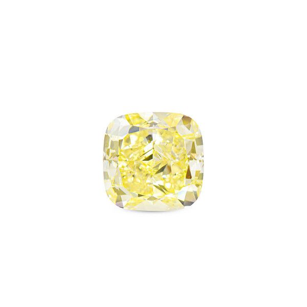 5.23 Carat, Fancy Intense Yellow Diamond, Cushion shape, VS2 Clarity, GIA Certified, 2205825763