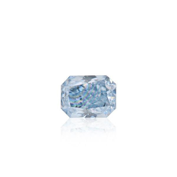 0.39 Carat, Fancy Intense Blue Diamond, Radiant shape, I1 Clarity, GIA Certified, 2171786807