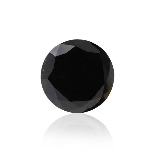 2.09 Carat, Fancy Black Diamond, Round shape, GIA Certified, 2185549159