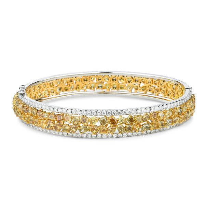 Fancy Deep Yellow Diamond Bracelet, 16.52 Ct. TW, Mix shape