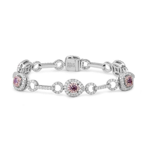 Fancy Brownish Purplish Pink Diamond Bracelet, 0.69 Ct. (2.94 Ct. TW), Mix shape, GIA Certified, JCBF05390276