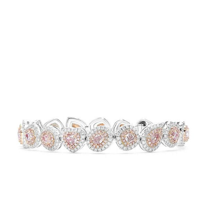 Fancy Light Pinkish Purple Diamond Bracelet, 3.65 Ct. (7.06 Ct. TW), Mix shape, GIA Certified, JCBF05427350