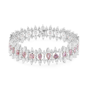 Fancy Purplish Pink Diamond Bracelet, 4.76 Ct. (15.13 Ct. TW), Mix shape