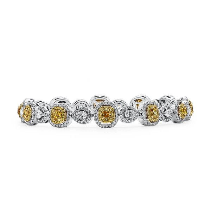 Fancy Vivid Yellow Diamond Bracelet, 2.47 Ct. (5.38 Ct. TW), Mix shape