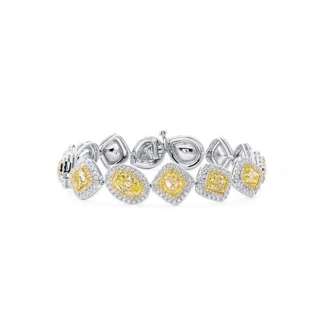 Fancy Light Yellow Diamond Bracelet, 11.63 Ct. (15.52 Ct. TW), Mix shape, GIA Certified, JCBF05454154