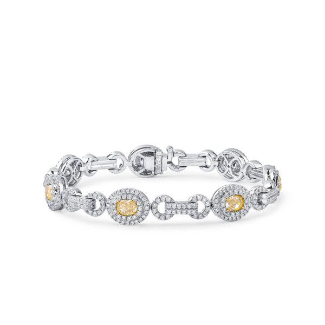 Fancy Yellow Diamond Bracelet, 3.26 Ct. (5.85 Ct. TW), Oval shape