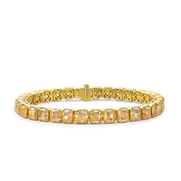 Fancy Yellow Diamond Bracelet, 32.06 Carat, Radiant shape