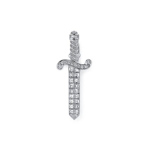 White Diamond Brooch, 0.88 Carat, Mix shape