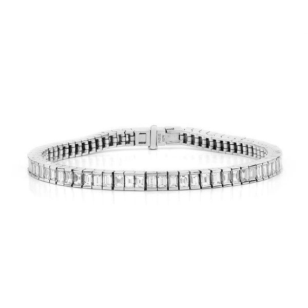 Emerald Cut Diamond Tennis Bracelet , 7.52 ct, G-H, VS