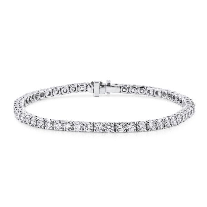 White Diamond Bracelet, 5.65 Carat, Round shape