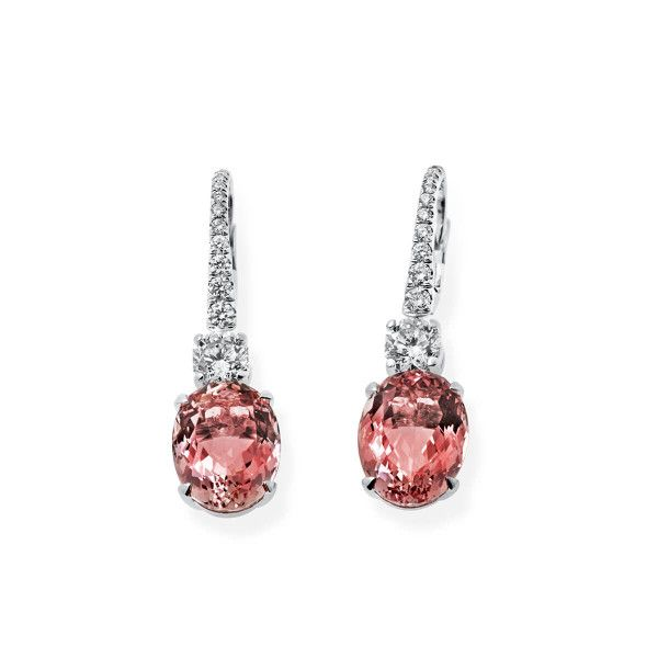 Natural Pink Morganite Earrings, 11.09 Ct. (12.87 Ct. TW), IGL Certified, J37924883IL, Unheated