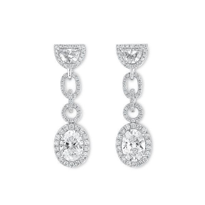 White Diamond Earrings, 2.02 Ct. (3.33 Ct. TW), Oval shape, GIA Certified, JCEW05428138
