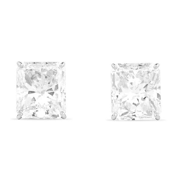 White Diamond Earrings, 10.02 Carat, Radiant shape, GIA Certified, JCEW05429506