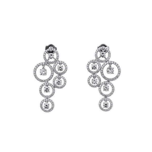 White Diamond Earrings, 1.76 Ct. (3.25 Ct. TW), Round shape, EG_Lab Certified, J5926219943