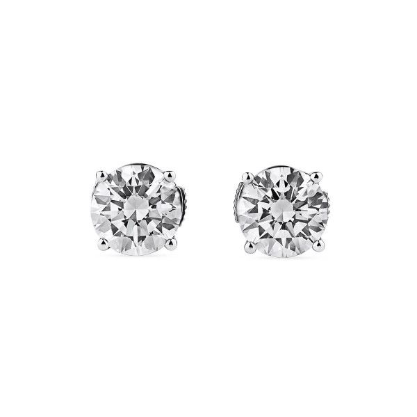 White Diamond Earrings, 2.02 Carat, Round shape, GIA Certified, JCEW05467418