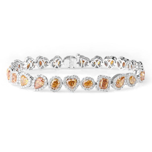 Fancy Yellow Diamond Bracelet, 11.19 Ct. TW, Mix shape