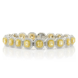 Fancy Yellow Diamond Bracelet, 8.33 Ct. TW, Radiant shape