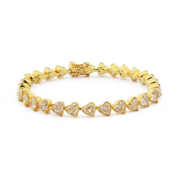 Fancy Yellow Diamond Bracelet, 16.98 Carat, Heart shape, EG_Lab Certified, J5826182234