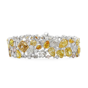 Fancy Mix Diamond Bracelet, 31.87 Ct. (32.31 Ct. TW), Mix shape