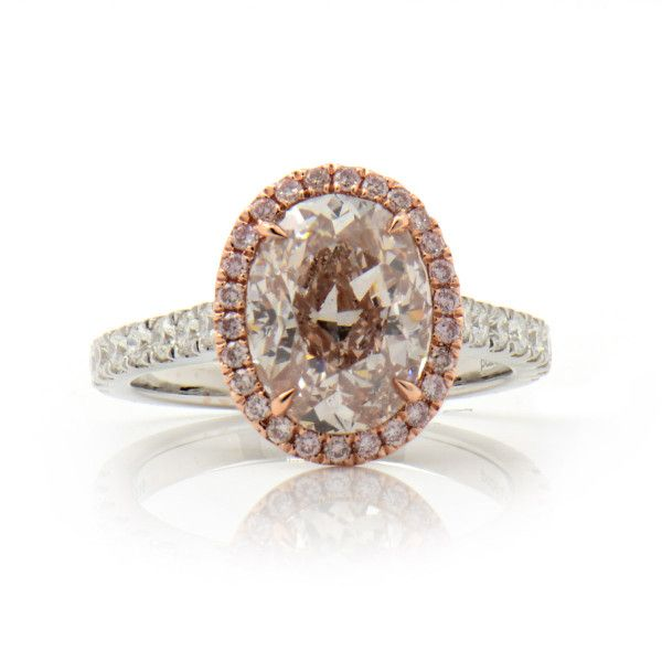 Fancy Pink Diamond Ring, 0.18 Ct. TW, Round shape