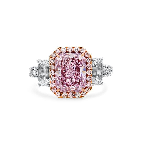 Light Pink Diamond Ring, 3.01 Carat, Radiant shape, GIA Certified, 2171722994