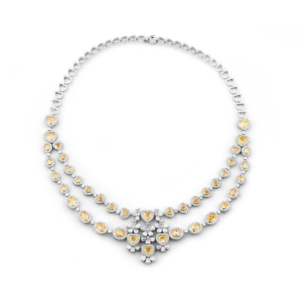 Fancy Yellow Diamond Necklace, 32.62 Ct. TW, Mix shape