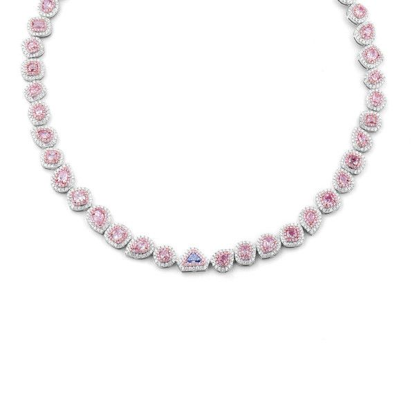 Royal Blue & Majestic Pink Splendorous Diamond Necklace, 18.84 Ct. TW, GIA Certified, JCNF05388729