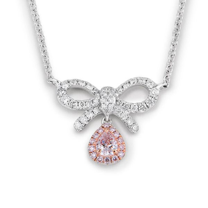 Fancy Pink Diamond Necklace, 0.12 Ct. (0.38 Ct. TW), Pear shape, EG_Lab Certified, J5826306030