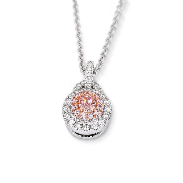 Faint Pink Diamond Necklace, 0.41 Ct. TW, Oval shape, GIA Certified, 5191255990